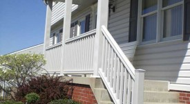 "PVC Railing with 6"" Support Posts"