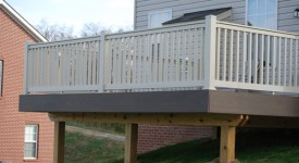 TimberTech Walnut Grove Deck with Bella Tan Railings