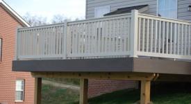 TimberTech Walnut Grove Deck with Bella Tan Railings