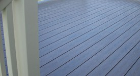 TimberTech Walnut Grove Deck with Matching Stairs