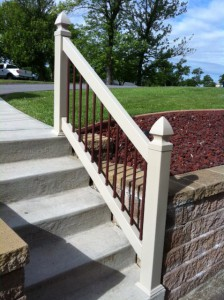 Bella Railings with Rust Color Balusters